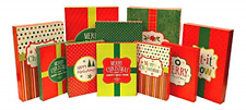 Christmas Holiday Multi Color Festive Gift Wrapping Shirt, Robe, Lingerie Boxes
