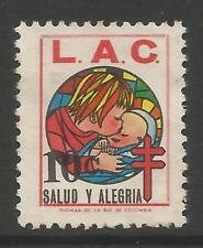 stamps-colombia 1965 Noël - 10c anti T.B.Charité Affiche timbre. Uncancelled