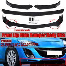 For Mazda 3 6 CX-4 CX-5 CX-7 Miata MX-5 RX-7 Front Bumper Lip Spoiler Body Kit