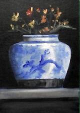 I cinesi Ming Planter: ORIGINALE dipinto ad olio di Natasha Arnold