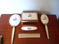 vintage dressing table accessories vanity grooming set by Regent of london
