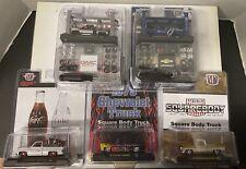 Lot 5 M2 Machines 1:64 Coca Cola Silverado,Scottsdale,Sierra Grande Truck.New!