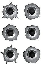 Set of BULLET HOLE Car Stickers Rapid Fire Decal Gun Holes POPULAR