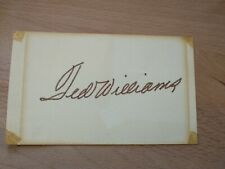 Ted Williams Red Sox 3x5/Index Card Signed/Autographed