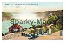 Horseshoe Falls and Queen Victoria Park Entrance Canada Vintage Postcard A01