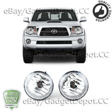 For 2005-2010 2011 Toyota Tacoma Clear Lens Front Fog Lights / Lamp Pair