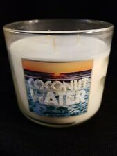 Bath & Body Works  COCONUT WATER  LARGE 3 WICK scented CANDLE 14.5 oz