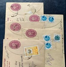 Nepal 🇳🇵5 interesting used postal stationery