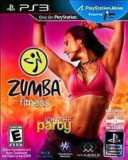 Zumba Fitness JOIN THE PARTY PS3 MOVE! CARDIO DANCE WORKOUT, LATIN, JUST FUN
