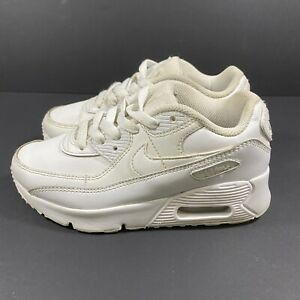 Nike Air Max 90 LTR PS (Little Kid Size 13C) Running Shoe Triple White Sneaker
