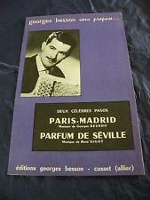 Partition Paris Madrid Parfum de Séville de Georges Besson Pasos