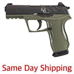 Gamo 611139354 Bone Collector Blowback Air Pistol 177 BB/Pellet Green Stock