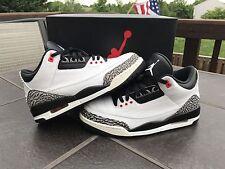 jordan 3 infrared 23 Size 10 White Black Cement OG Nike Air Authentic