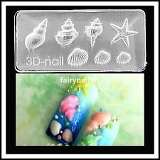 7 sizes Conch Shellfish Acrylic Nail Art Mold Mould Die Cast 3D Decoration #66