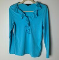 Brooks Brothers Women's Top Size Medium Long Sleeves V-Neck Cotton Blend