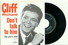 "CLIFF RICHARD Don't Talk to Him (1963 HOLLAND COLUMBIA PS EX VINYL SINGLE 7"")"