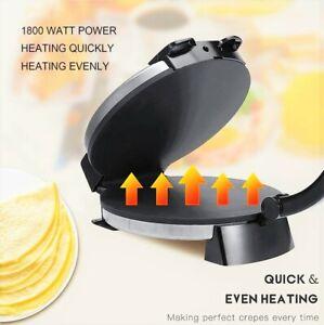 1800W Electric Crepe Maker Pan Cake Machine Non-Stick Griddle Baking Kitchen set