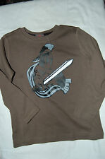 ESPRIT Long Sleeved T Shirt Khaki . Knight on Front Age 2-3 Years BNWOT