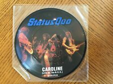 """7"""" Single Picture Disc Live At NEC  Caroline  : Status Quo"""