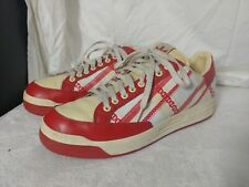Vintage Adidas Men's Rod Laver Sneaker Tennis Shoe Red and White Size 11.5