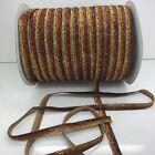 "New 5 yards 3/8""10mm Sparkle Glitter Velvet Ribbon Headband Craft supplies #31"