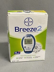 Bayer Breeze 2 Blood Glucose Meter System Open Box New Unused Exp 10-2014