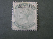"""ZULULAND, SCOTT # 12, 1/2p. VALUE 1888-94 STAMPS OF GB OVPT """"ZULULAND""""  ISSUE MH"""