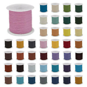 Waxed Polyester Cord 1mm, Macrame, jewellery, wax (T1)