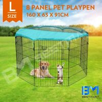 """8 Panel Pet Playpen Dog Enclosure Puppy Exercise Fence Cage W/ Fabric Cover 36"""""""