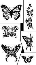 Rub 'n' Etch Glass Etching Stencil Set ~ Butterflies