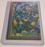 1993 SkyBox CYCLOPS X-MEN Blue Team Marvel Comics Trading Card 115 8.5 Excellent