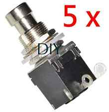 5 x DPDT 3 lugs footswitch interruttore a pressione true bypass pedal clone DIY