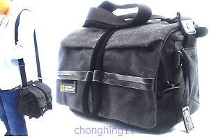 For Nikon D610 D5500 D7500 D850 Canvas DSLR SLR Camera Shoulder Bag Case Pouch