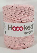 Hoooked `Zpagetti Stoffgarn Rosa Ton mit Punkten` Neu, Häkeln,Stricken 700