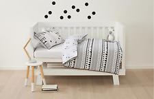 Bunny Hop Reversible Baby Cot / Toddler Bed Quilt/ Doona Cover Set - Nursery