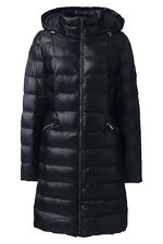 $169 NWT LANDS END LONG Women Lightweight 700 Down Hooded JACKET COAT SMALL  6/8