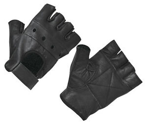 WEIGHT LIFTING PADDED LEATHER GLOVES FITNESS GYM TRAINING CYCLING BODYBUILDING