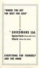 1968 Chiesmans Ltd Upton Park Ilford Home Furnishings Ad
