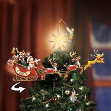 Disney Christmas Tree Topper Mickey Vintage Figurines Animated LED Lights Decor