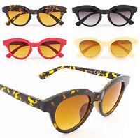 Womens Rockabilly 50s 60s Retro Thick Frame Cat Eye Style Sunglasses