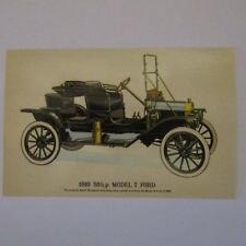 1910 20hp MODEL T FORD Three Seater Sport Postcard Post Card Postally Unused