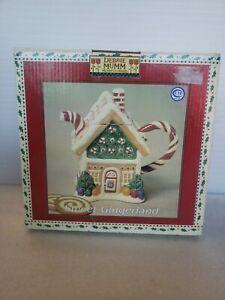 Sakura Debbie Mumm Christmas Mini Teapot Collector Series Sweet Gingerland