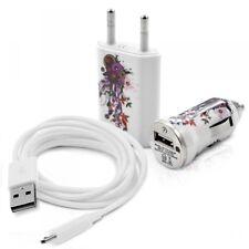 Chargeur maison + allume cigare USB + câble data pour Samsung Galaxy Trend avec