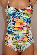 New Tommy Bahama Swimsuit Bikini 1 one piece Sz 4 Fleur De Lite Bandeau