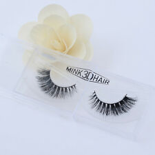 Luxurious Messy Reusable 3D False Eyelashes 100% Siberian Mink Fur Classic Lash