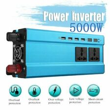 5000W Car Converter Solar Power Inverter 12/24V To 220V Pure Sine Wave Invertor