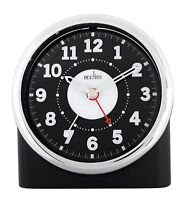 CLEARANCE ITEM Acctim Central Non Tick Alarm Clock in Black Case  (our ref 4R)
