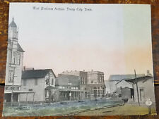 Annex Cafe Company Store Railroad Depot Tracy City TN Tennessee Postcard Card
