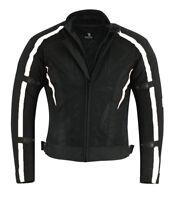 BUSA Bikers Gear Motorcycle Air Flow Mesh Jacket CE Armour & Waterproof Liner