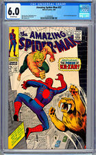 AMAZING SPIDER-MAN #57 CGC 6.0 STAN LEE STORY JOHN ROMITA ART KA-ZAR & ZABU 1968